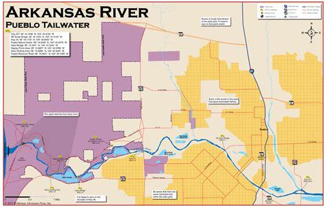 arkansas trout fishing maps pictures arkansas river pueblo tailwater 11x17 flyfishing map