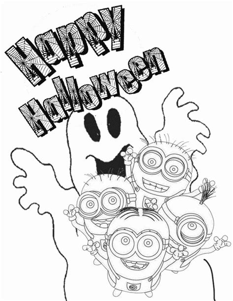 minion pumpkin coloring pages minion and ghost coloring page h m coloring pages