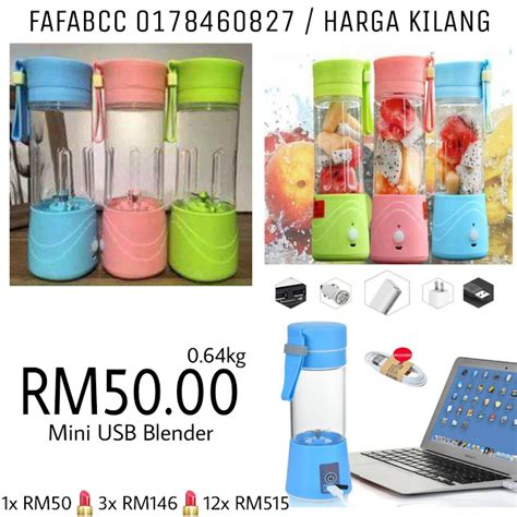 Juicer Murah jual borong murah malaysia mini usb blender juicer rm50