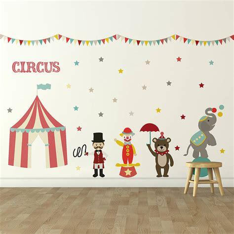children s circus wall sticker set by oakdene designs notonthehighstreet