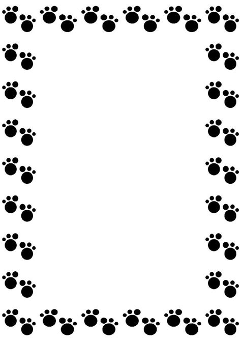 Paw Print Page Border Clip by Paw Border Clip Paw Print Paws
