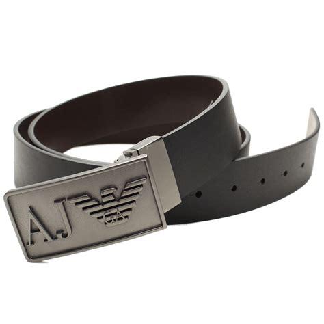 armani armani buckle reversible belt black