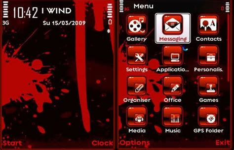 themes android s60v3 bloody red theme for s60v3 latest android theme game apps
