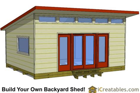 Outdoor Storage Buildings Plans Modern Shed Plans Modern Diy Office Amp Studio Shed Designs