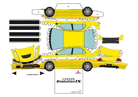 Papercraft Mobil - 3d paper car cutouts mustang car engine parts diagram