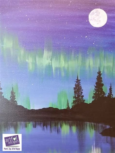 just for painting class northern lights tickets sat nov 5 2016 at 7 00 pm eventbrite
