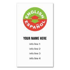 interpreter business card templates interpreter business cards on