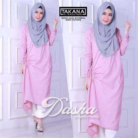 Syari Burberrys Grey baju muslim terbaru gamis modern style baju gamis dasha