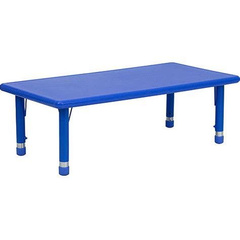 Activity Table Walmart by Adjustable Height Rectangular Plastic Activity Table Blue