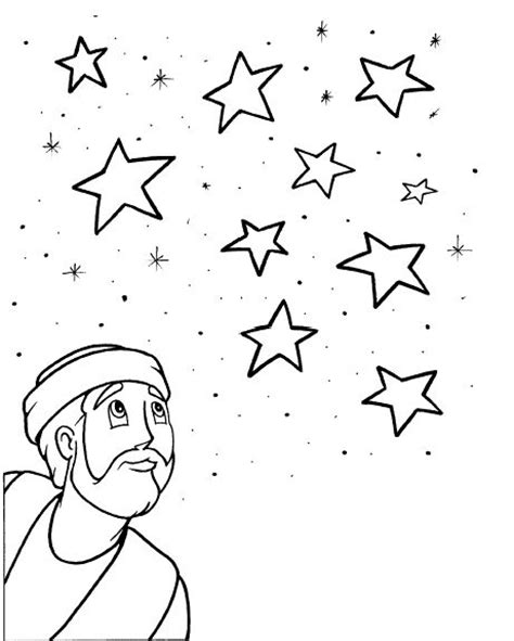 coloring page abraham stars 83 best images about teaching abraham sarah on