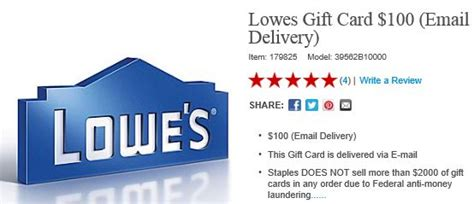 Lowes Gift Card Return Policy - 100 lowes gift card for 85 who said nothing in life is free