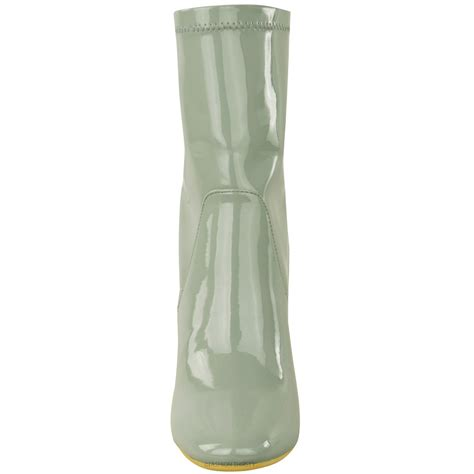 new womens ankle boots clear perspex block high