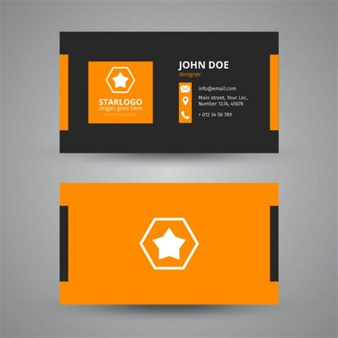 orange and black business card psd design techfameplus business card in black and orange vector free download