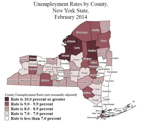 Ny Unemployment Office by New York Unemployment Rates In February Where Does Your