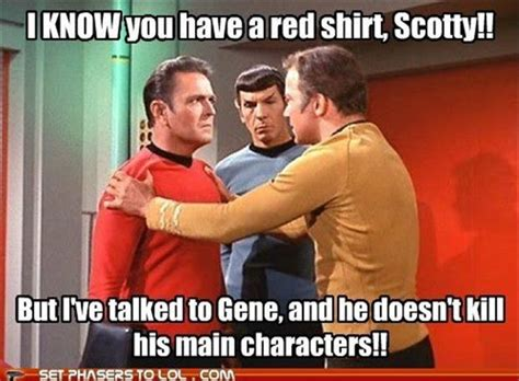 Red Shirt Star Trek Meme - funny star trek dump a day