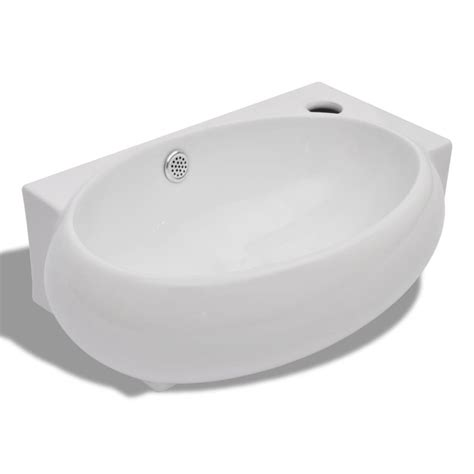 kitchen sink overflow ceramic sink basin faucet overflow hole bathroom white