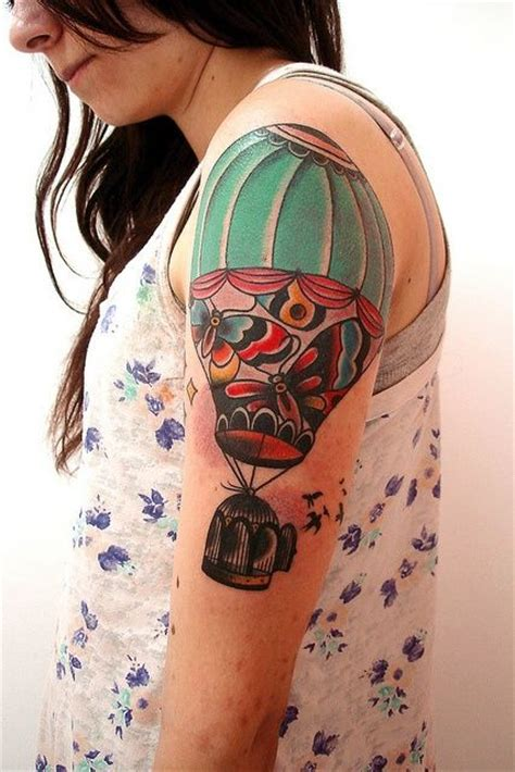 hot air balloon tattoo designs half sleeve air balloon design of