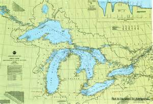 lake maps great lakes map remembering letters and postcards