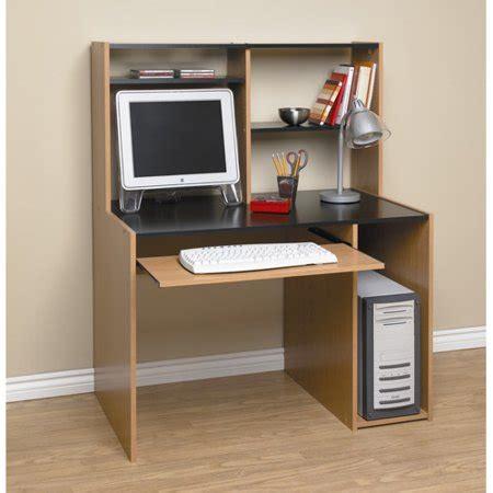 computer desk with hutch black and oak walmart