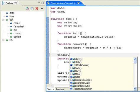 javascript tutorial using eclipse keywords in javascript list