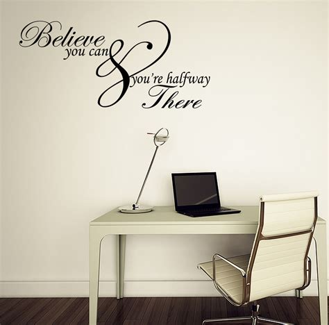 home decor wall decals believe you can inspirational quote vinyl wall sticker