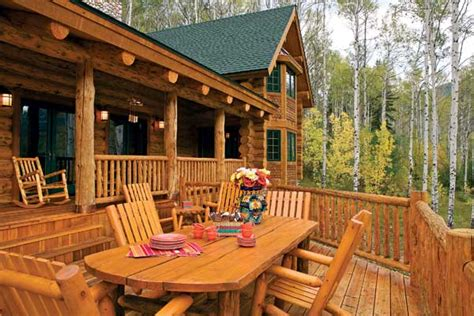 187 log cabin deck furniturepdfwoodplans