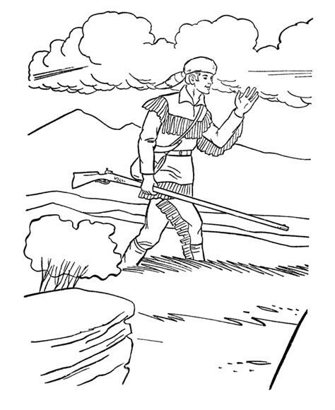 Usa Printables America Expansion Us History Coloring Daniel Boone Coloring Pages