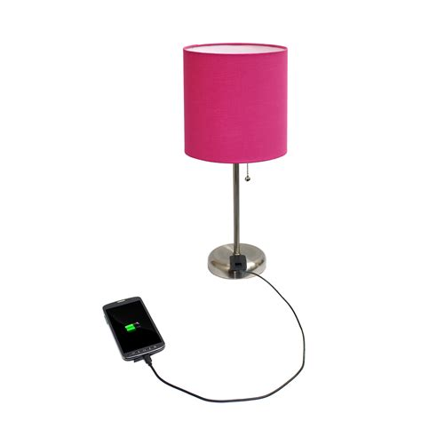 limelights stick l with charging outlet and fabric shade product features