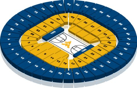 wvu coliseum seating ticket office seating charts