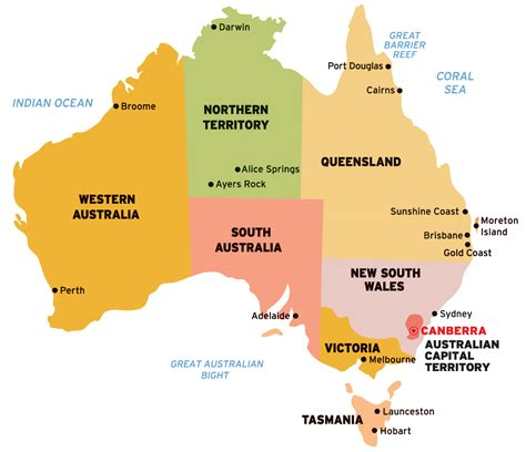 australia sea map south australia australia