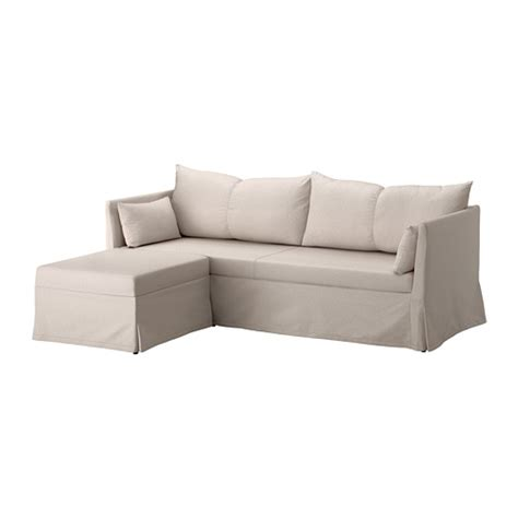 Small Sleeper Sofa With Chaise Sandbacken Canap 233 D Angle 3 Places Lofallet Beige Ikea