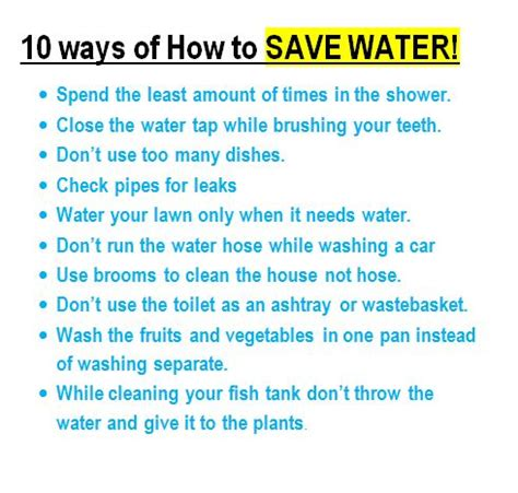 Way To Conserve Water Essay 10 ways of how to save water jpg jaspriyascience
