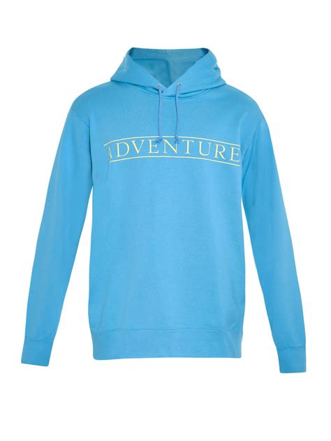 Sweatshirt Print lyst undercover adventure print hooded sweatshirt in