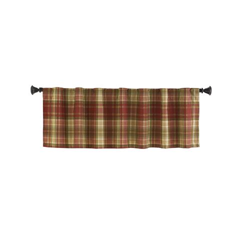 lowes curtains and valances shop style selections bernard 15 in red multicolor