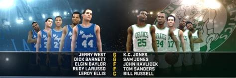 Nbas Greatest By Havlicek nba 2k12 screenshot nba s greatest matchup 64 65