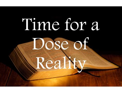 A Dose Of Reality 2 by Time For A Dose Of Reality 7 31 37 Pastor Craig