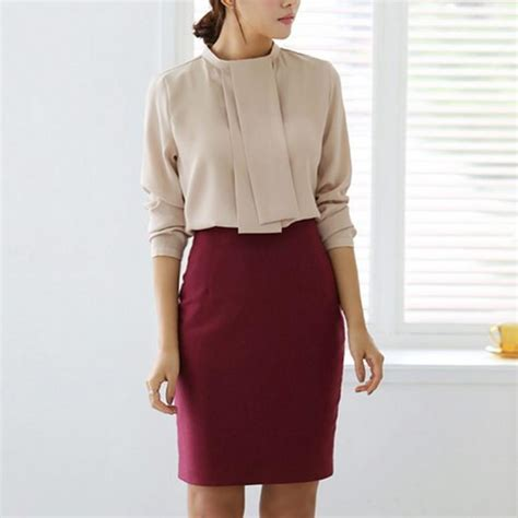 Highwaist Button Black Office Skirt womens pencil skirt high waist office midi skirt bodycon