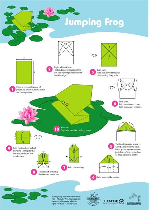Jumping Origami Frog - the world s catalog of ideas