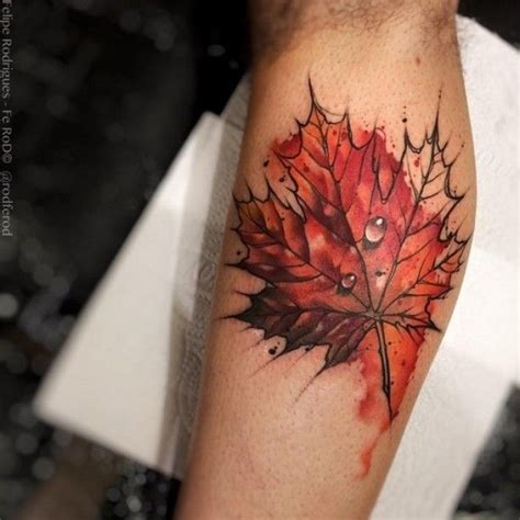 maple leaf tattoo watercolor tattoos pinterest maple