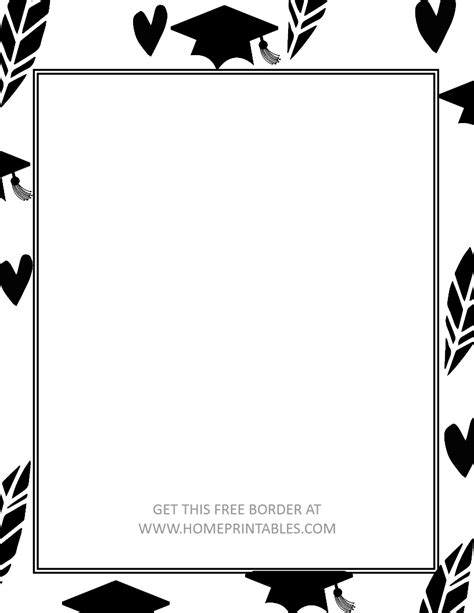 templates gray border graduation name 15 free graduation borders with 5 new designs home