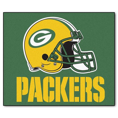 fanmats green bay packers 5 ft x 6 ft tailgater rug 5758