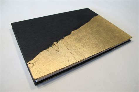 kantor weddingku small deco black and gold leaf modern wedding guest book