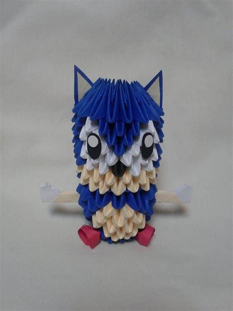 3 d origami sonic the hedgehog by pandanpandan on deviantart