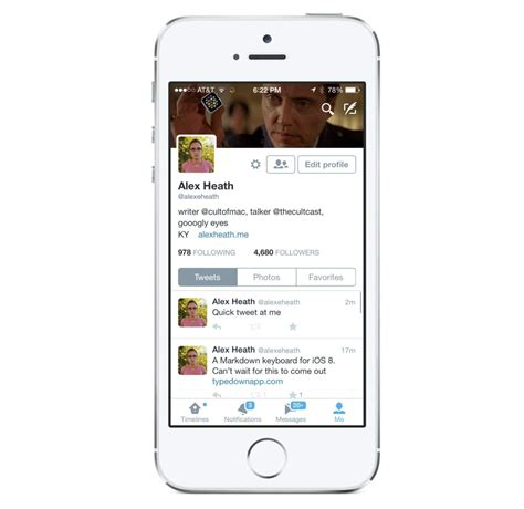 new twitter layout on iphone twitter for iphone gets new profile design interactive