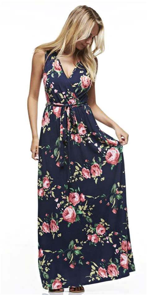 Maxi Flow Navy best 25 navy floral dress ideas on navy
