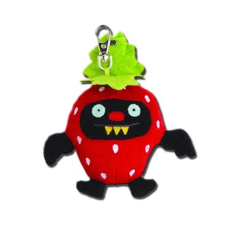 can pugs eat strawberries uglydoll fruit batty strawberry 4 inch plush keychain backpack clip ebay