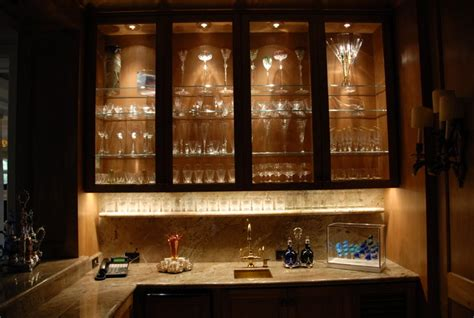 Cabinet Lighting Contemporary Wine Cellar Houston Lights Cabinet