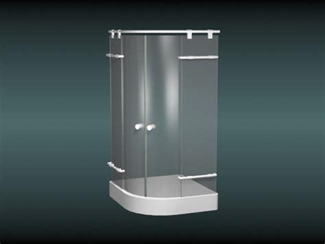 sliding shower stall  model dsmax files