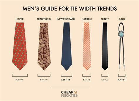 s guide s guide to necktie width trends six different tie