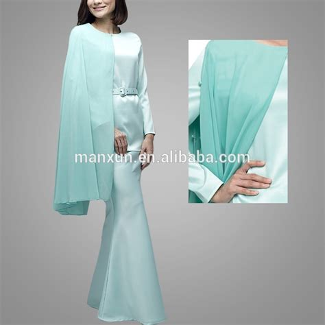 design baju organza hot style isalmic clothing modern kurung with one sided